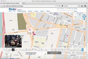 نقشه میدان تحریر با Geotags